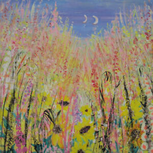 Sunflowers-by-the-Sea-Provence-a-very-large-painting-on-canvas-by-Jenny-Hare