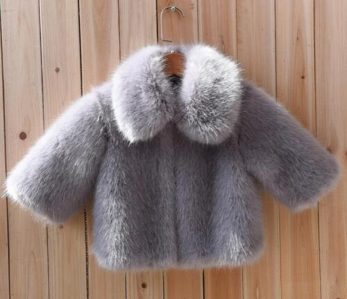 NEW Kid Girl Real Fur Winter Coat Warm Turn down Collar Jacket Baby Outwear X226