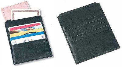 Importato Dall'Estero Porta Carte Di Credito Documenti In Pelle Riciclata 12 X 9,5 Conf. In Scatola Rimozione Dell'Ostruzione