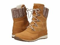 Salomon Hime Mid Leather Waterproof Boots Women's Beige / Bordeaux (sz 5 - 9.5)