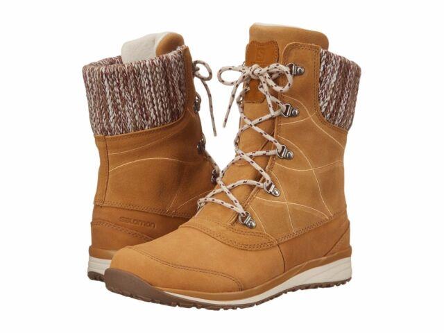 Salomon Hime Mid Leather Waterproof Boots Women's Beige