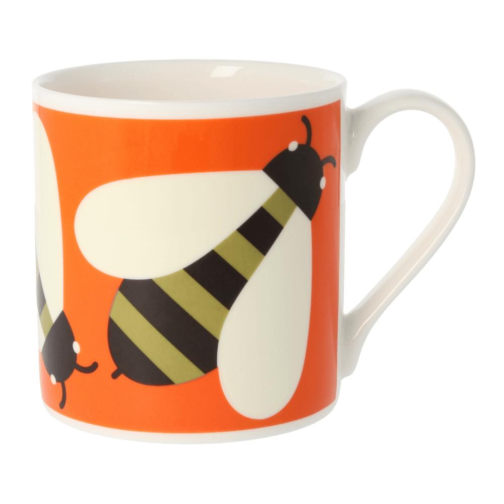400ml Orla Kiely Orange Busy Bee Mug Quite Big