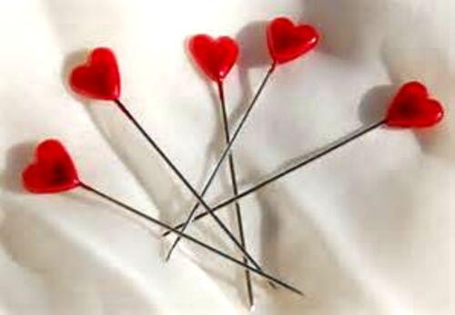 10 Pines de solapa de Perla Corazón Rojo para Corsage/'s etc poste libre