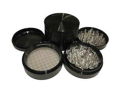 """Sharpstone Classic 1.5/"""" Inch Hard Top Herb and Tobacco Grinder 2 pc Small Black"""