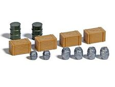 Busch 7784 Wooden Crates, Barrels & Oil Drums -   HO Gauge 1st Class