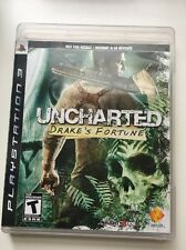 Uncharted: Drake's Fortune (Sony PlayStation 3, 2007) Black Label PS3 Mint