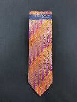 Best Price Premium Neck Tie & Pocket Square Steven Land Big Knot 100% Silk