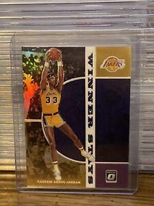 2019 Donruss Optic Kareem Abdul Jabbar Purple Prizm Winner Stays Insert Lakers