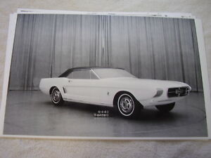 1963 FORD MUSTANG CONCEPT CAR 11 X 17 PHOTO PICTURE | eBay