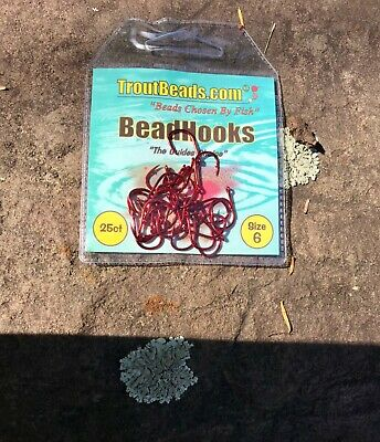 Size # 6 Troutbeads Hooks Black Finish One 25 Pack