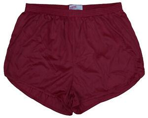 Soffe-Nylon-Ranger-Panties-Silkies-Running-Track-Shorts-Red-Men-039-s-2XL