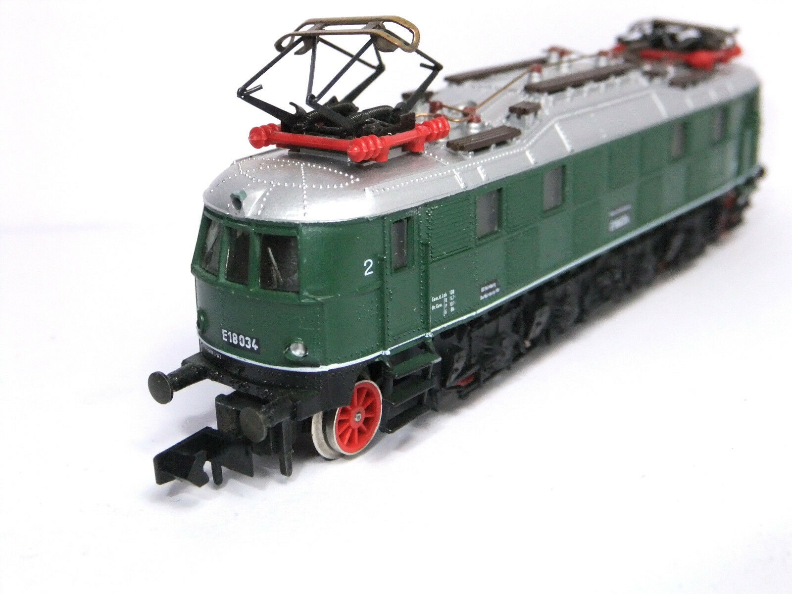 2458 Arnold e18 tren bala e-Lok de la DB verde  TOP rareza con embalaje original