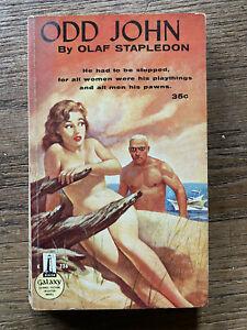 ODD-JOHN-by-OLAF-STAPLEDON-1959-Vintage-Adult-BEACON-GALAXY-Sci-Fi-Paperback