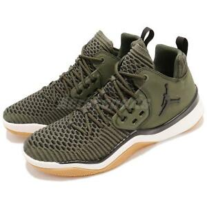 ea4cce41f66 Nike Jordan DNA LX Flyknit Cargo Khaki Green Gum Men Casual Shoes ...