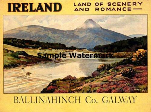 IRELAND Irish Dublin Land of Scenery and Romance Vintage Poster Repro FREE S//H