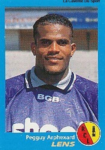 N°134 PEGGUY ARPHEXARD RC.LENS VIGNETTE PANINI FOOTBALL 96 STICKER 1996
