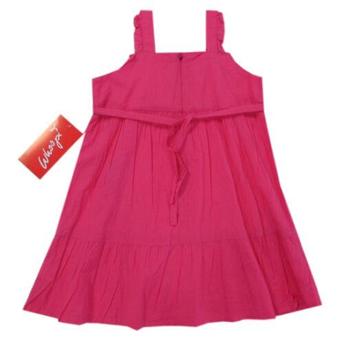 Whoopi Kleider Kleid ärmellos Trägerkleid Pink Baumwolle Sommer Gr.110,140