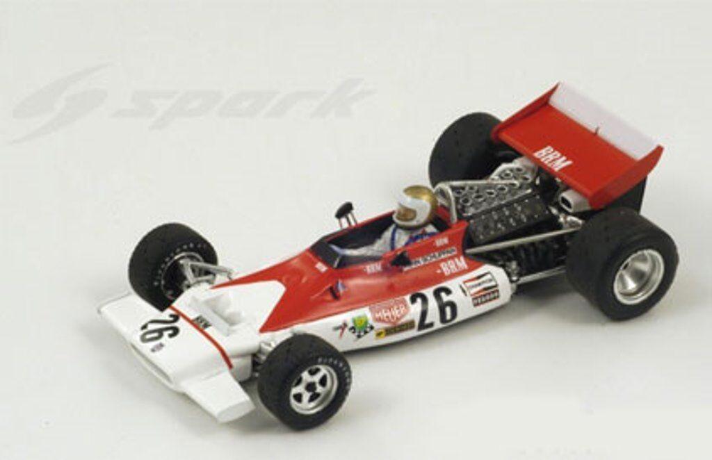 SPARK S1155 BRM F1 Diecast Voiture Modèle, Vern Schuppan Belgium GP 1972 1 43rd Scale