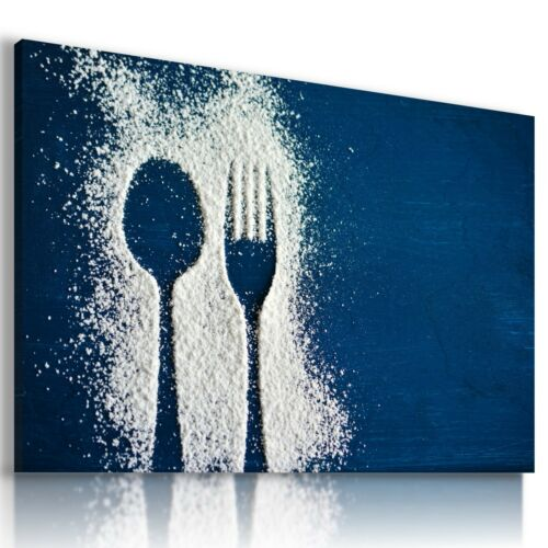 CUTLERY SPOON FORK ABSTRACT MODERN PRINT CANVAS WALL ART PICTURE AB691 X MATAGA