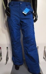 Mens S-M-L-XL-XXL Columbia Bull Lake Cargo Insulated Waterproof Ski Pant - Blue