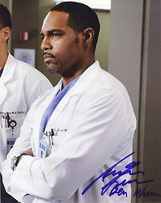 "Entertainment Memorabilia Television ~~ Jason George Authentic Hand-signed ""grey's Anatomy"" 8x10 Photo ~~ Rich In Poetic And Pictorial Splendor"