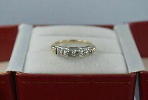 Vintage-14k-Yellow-White-Gold-Finish-1-20-tcw-DIAMOND-Wedding-Band-Ring