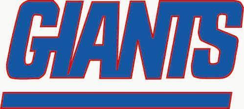 a New York Giants vinyl sticker for skateboard luggage laptop tumblers car