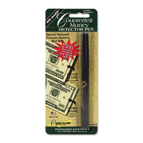 DRI351B1 Currency Dri-Mark Smart Money Counterfeit Bill Detector Pen U.S