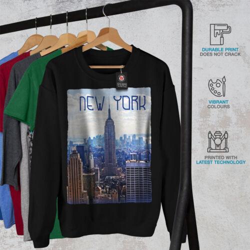 Wellcoda New York Mens Sweatshirt Skyscraper Casual Pullover Jumper