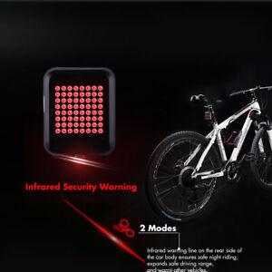 64-LED-Bici-MTB-Fanale-posteriore-LUCE-USB-Freno-Indicatore-direzione-Sensore-G