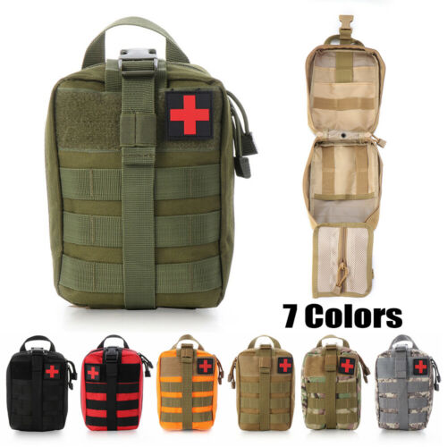 1pc Nylon Emergency Bag Tactical Molle Medical Pouch EMT Wild Rescue Package New