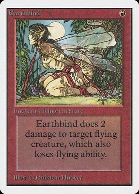 Earthbind Unlimited NM-M Red Common MAGIC THE GATHERING MTG CARD ABUGames