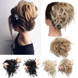 Uk Lady Spiky Messy Bun Bun Hair Piece Scrunchie Hair Bobble