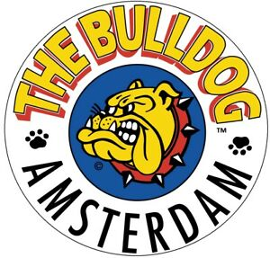 THE-BULLDOG-AMSTERDAM-Round-Vinyl-Matte-Finish-Removable-Sticker-9-5cm-95mm