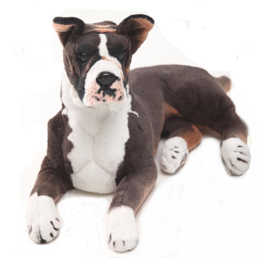 Nuovoest coraggioso Cane Nero tedesco BOXER Peluche Animale Di Peluche ALITTLE Cuscino Toys