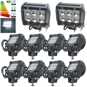 10//6/4/2/1x 18W LED Arbeitsscheinwerfer Strahler CREE Arbeitslampe Offroad SUV