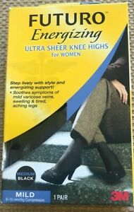 Futuro Ultra Sheer Knee Highs for Women LARGE NUDE