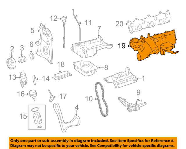mercedes benz 6420900637 genuine oem intake manifold ebay rh ebay com Mercedes Intake Manifold Flap BMW E46 Intake Manifold Diagram