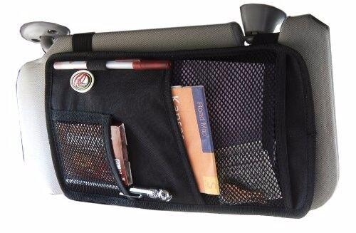 Sun Visor Organizer Storage pen holder Mesh Pocket Car Auto Truck Black