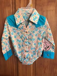 e2836e01c Image is loading WRANGLER-Infant-Girls-Floral-Pearl-Snap-One-piece-