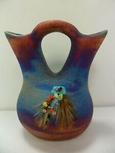 Raku-Pottery-Wedding-Vase-5in-By-Artist-Jeremy-Diller