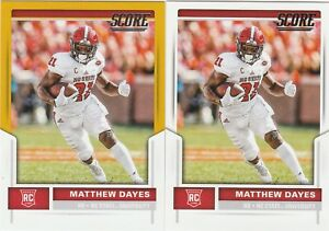 online store 22bad 61971 Details about Matthew Dayes CLEVELAND BROWNS NC STATE 2017 SCORE GOLD  parallel & Base #433 RC