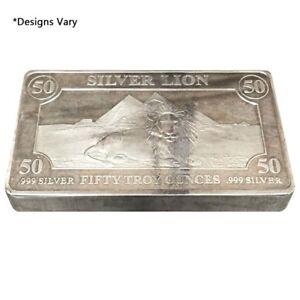 50 oz Generic Silver Bar .999 Fine