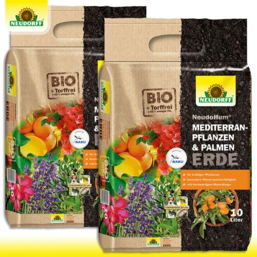 Neudorff 2 x 10 l NeudoHum Mediterranpflanzen /& PalmenErde