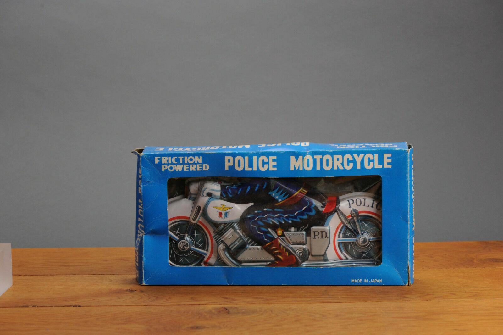 _AntiqueTin leksakSSS Shioji lådaad leksak japan arbetssätt Motorcycle HArley Davidson