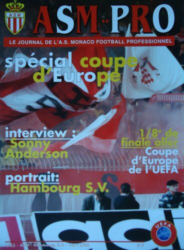 Programm ASM Pro EC 1996//97 AS Monaco Hamburger SV