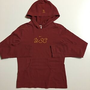 Vintage NIKE red tag Women s Girls M Red USC hooded pullover light ... 732d0ca650