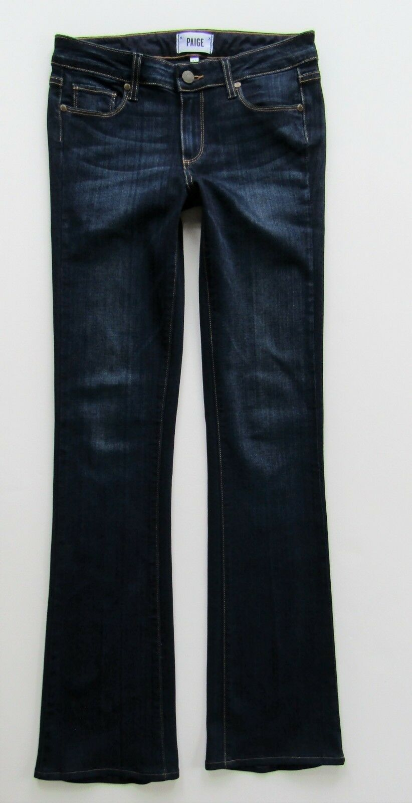 Paige Manhattan Slim Boot Cut Transcend Jean in Armstrong, Dark - Size 27 x 31.5