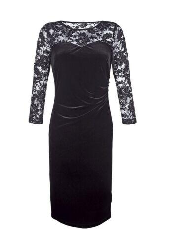 dentelle 0217636876 taille avec noir 46 marques robe velours Top fpXaFF