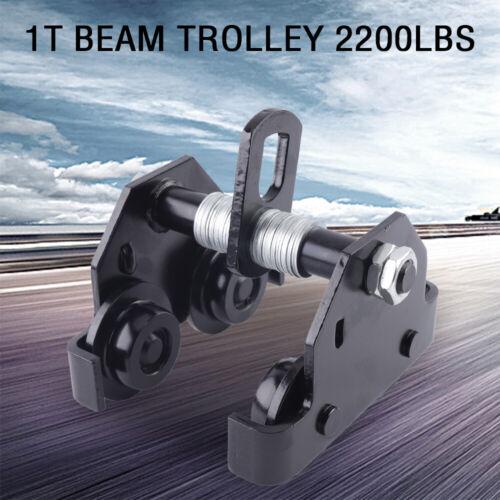 2200 lbs 1T Schubbalkenwagen Laufkatze Handfahrwerk Kran für Portalkranwinde